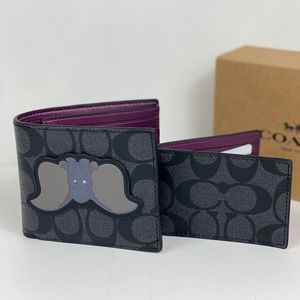 NWT Coach x Disney 3 IN 1 Signature Wallet Dumbo